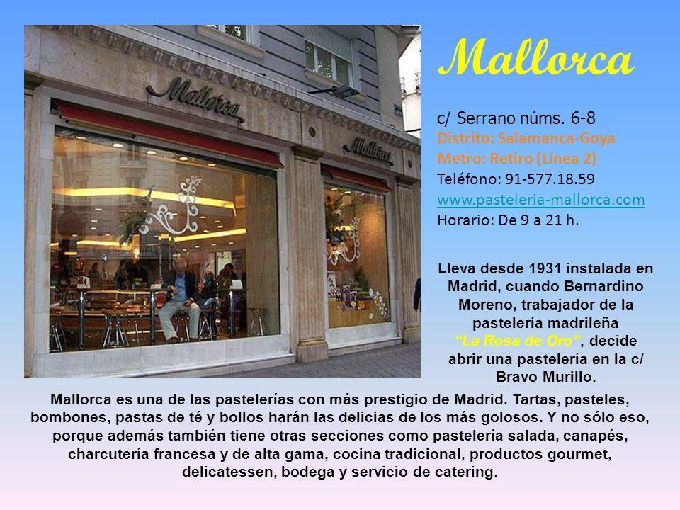 Pastelería Boñar c/ Coslada nº 10 (La Guindalera) Metro: Avda. América (L4, 5, 7, 9), Diego de León (L 4, 5, 6) Tlfno: 91-356.60.58 y 91-355.66.44 MAD