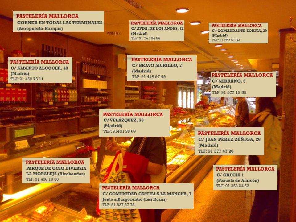 Mallorca es una de las pastelerías con más prestigio de Madrid. Tartas, pasteles, bombones, pastas de té y bollos harán las delicias de los más goloso