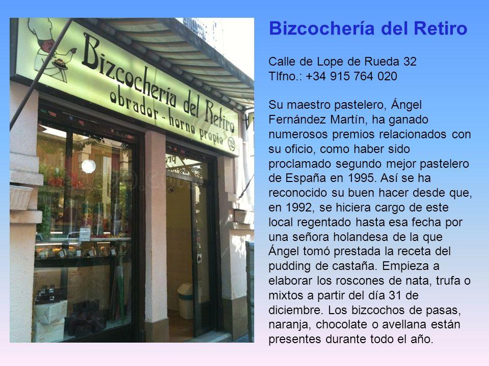 General Díaz Porlier, 7 Distrito: Salamanca - Barrio: Goya Horario: L-S de 08:30 a 21 / D de 10 a 15 y de 17:30 a 21 h Cómo llegar: L2,L4 Goya Forment