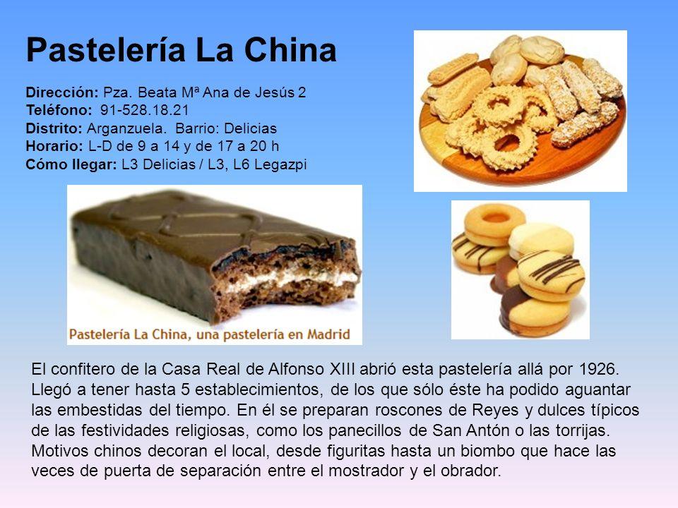 Pastelería Cala Millor Tlfno.: 917 381 661 Calle de Fermín Caballero 70 28034 Madrid Aunque la tradición familiar viene de los años 50 en la calle San
