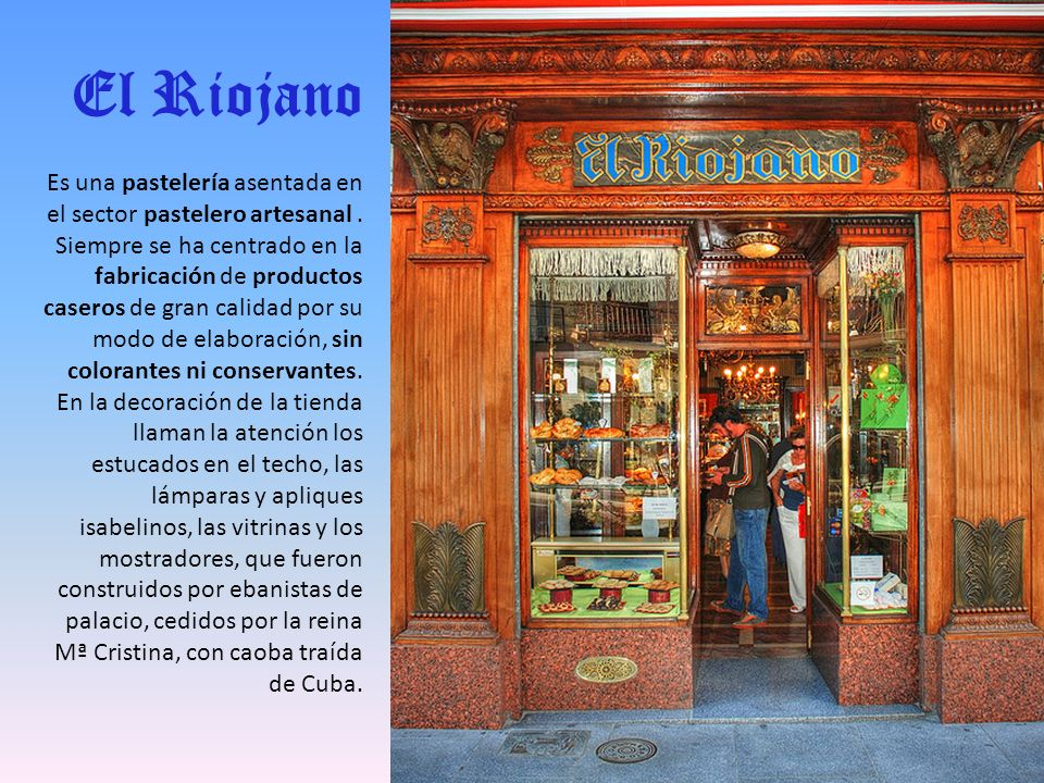 C/ Mayor, 10 Teléfono: 91 366 44 82 EL RIOJANO
