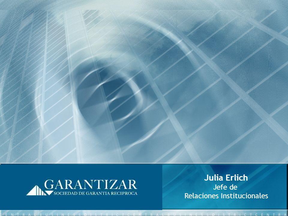 Julia Erlich Jefe de Relaciones Institucionales