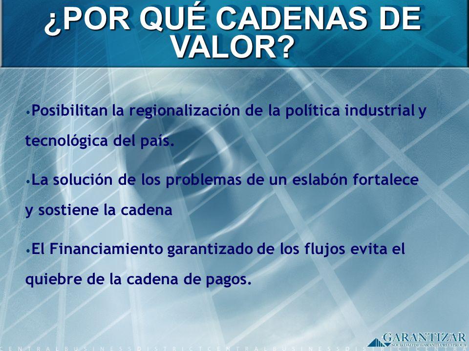 Posibilitan la regionalización de la política industrial y tecnológica del país. La solución de los problemas de un eslabón fortalece y sostiene la ca