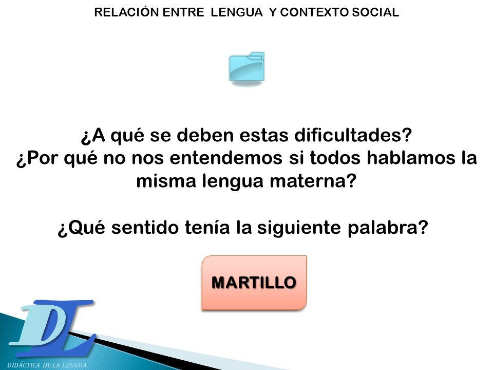 ¿A qué se deben estas dificultades? ¿Por qué no nos entendemos si todos hablamos la misma lengua materna? ¿Qué sentido tenía la siguiente palabra? LIB