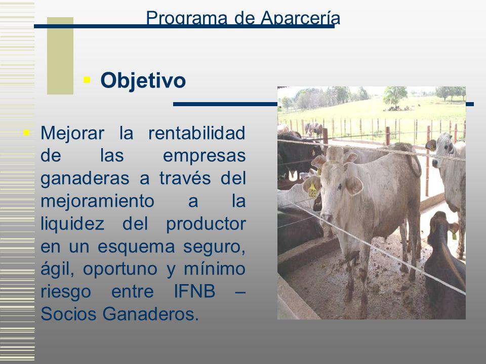 Objetivo Mejorar la rentabilidad de las empresas ganaderas a través del mejoramiento a la liquidez del productor en un esquema seguro, ágil, oportuno