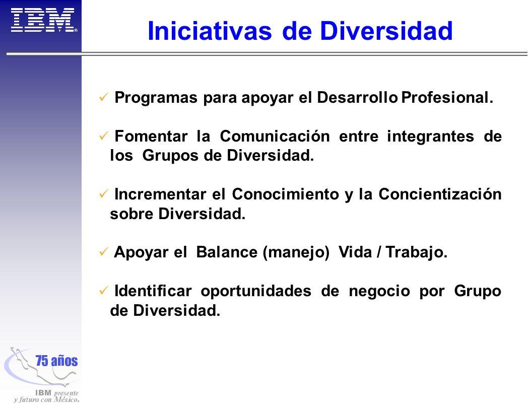 Iniciativas de Diversidad Programas para apoyar el Desarrollo Profesional.