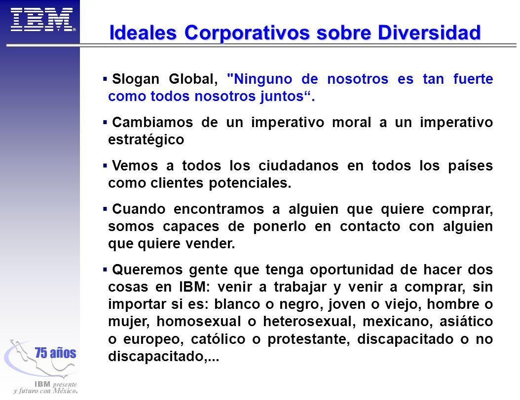 Ideales Corporativos sobre Diversidad Slogan Global, Ninguno de nosotros es tan fuerte como todos nosotros juntos.