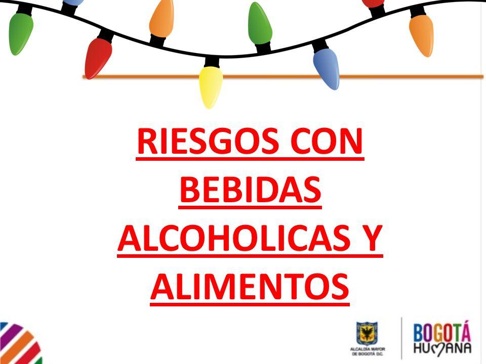 RIESGOS CON BEBIDAS ALCOHOLICAS Y ALIMENTOS