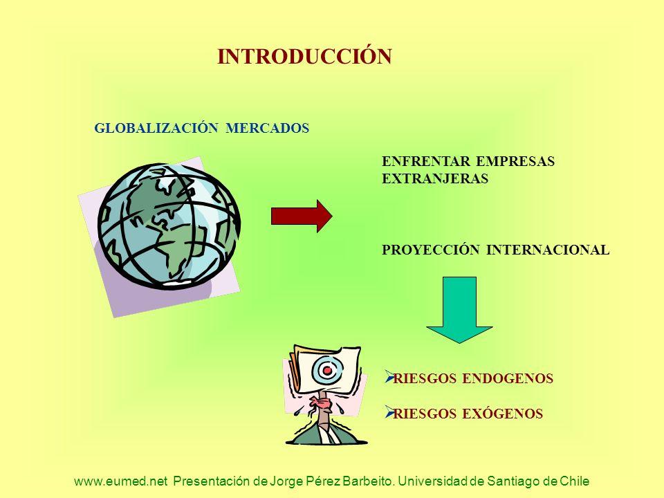 www.eumed.net Presentación de Jorge Pérez Barbeito. Universidad de Santiago de Chile INTRODUCCIÓN GLOBALIZACIÓN MERCADOS ENFRENTAR EMPRESAS EXTRANJERA