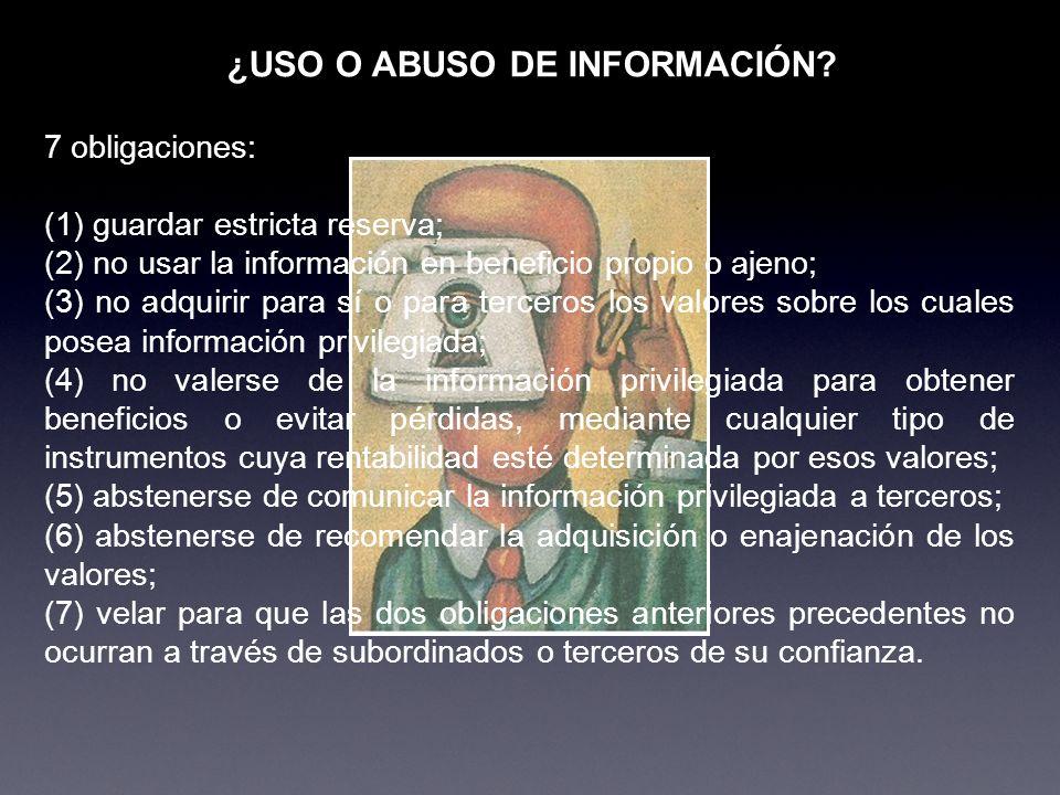 2 REGLAS PARA UNA AUTOREGULACIÓN El uso de información no siempre es malo o ilícito.