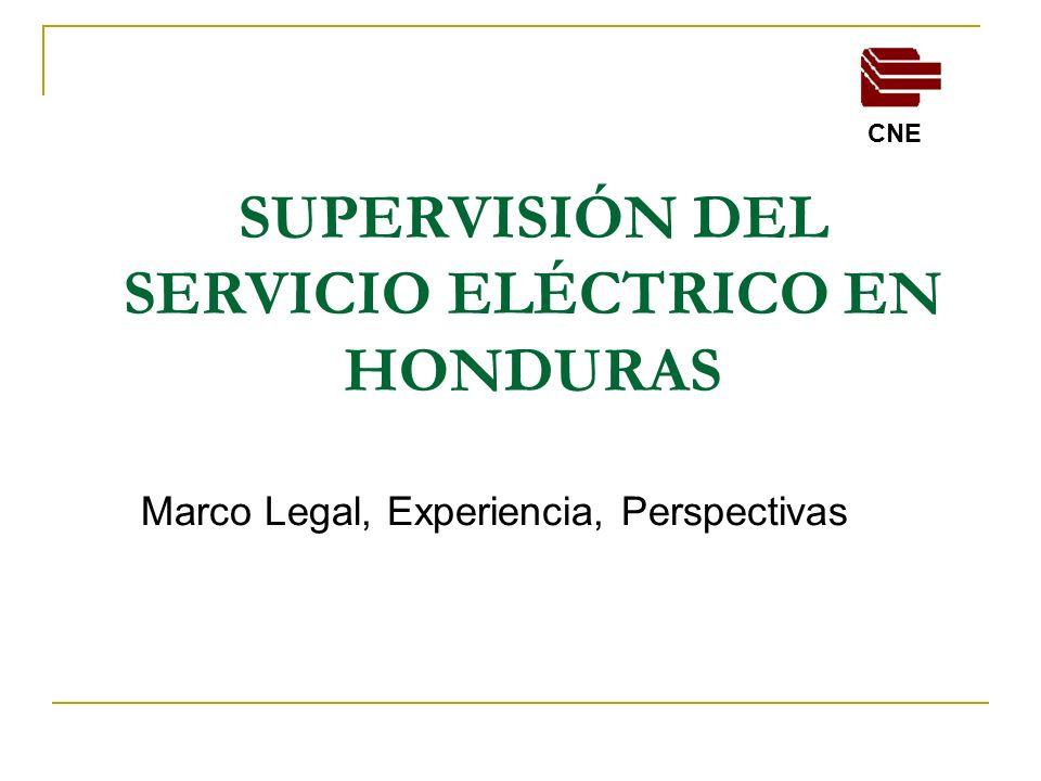 EXPERIENCIAS En el marco de las facultades anteriores, la CNE ha estado avocada a las siguientes: Formulación del instrumental legal que nos permita supervisar las diferentes actividades y agentes del sub sector eléctrico.