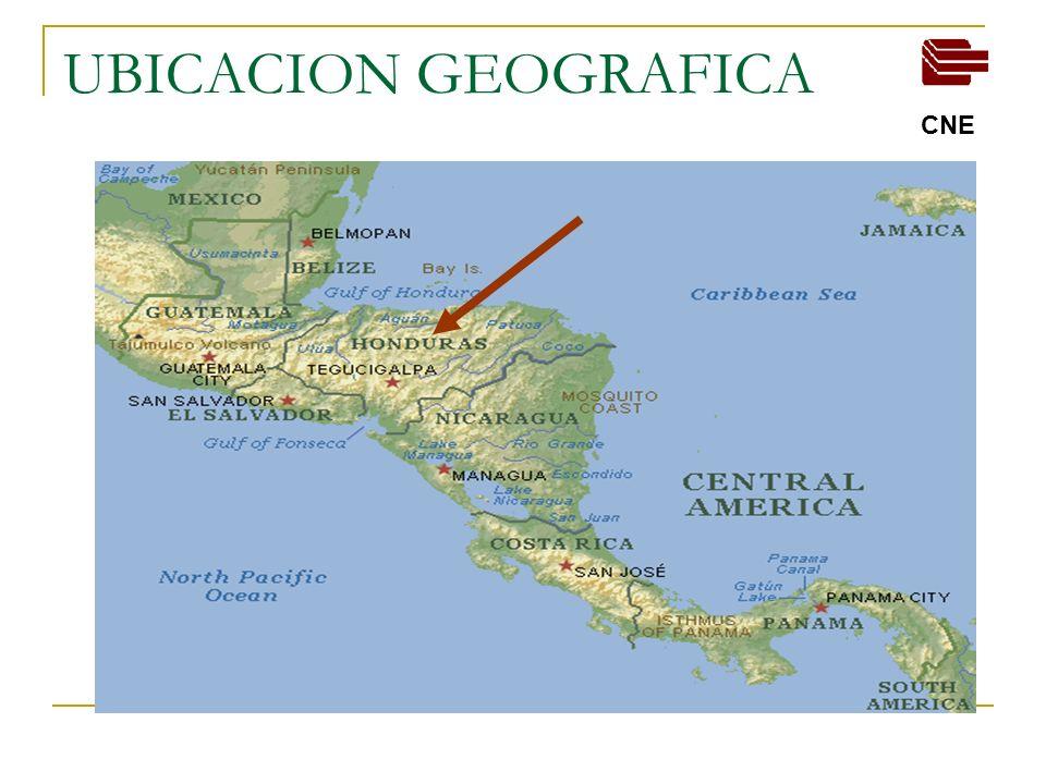 SITUACION ENERGETICA NACIONAL (2008) DATOS GENERALES DEMANDA Y OFERTA 1,100 MW de demanda maxima 1,474MW de capacidad instalada CNE