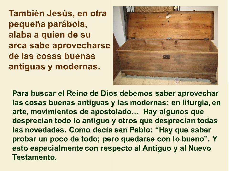 También nos dice Jesús que el Reino de Dios es como uno que arroja una red al mar y la recoge. Se parece a lo del trigo y la cizaña. En la red hay pec