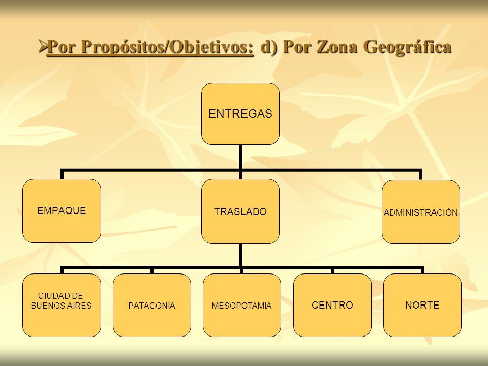Por Propósitos/Objetivos: d) Por Zona Geográfica Por Propósitos/Objetivos: d) Por Zona Geográfica ENTREGAS EMPAQUETRASLADO CIUDAD DE BUENOS AIRESPATAG