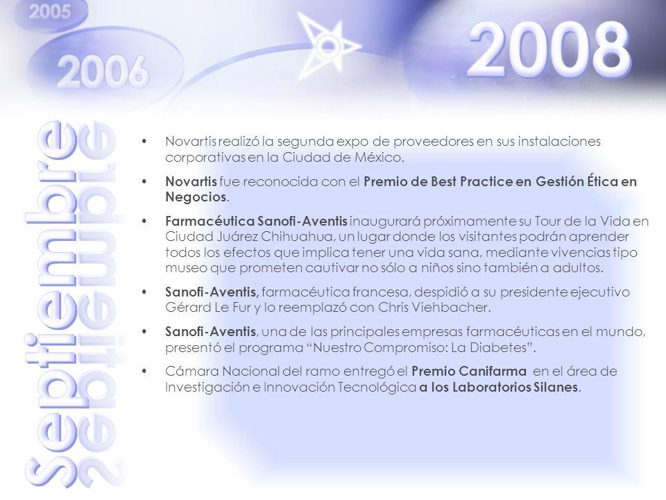 Novartis realizó la segunda expo de proveedores en sus instalaciones corporativas en la Ciudad de México. Novartis fue reconocida con el Premio de Bes