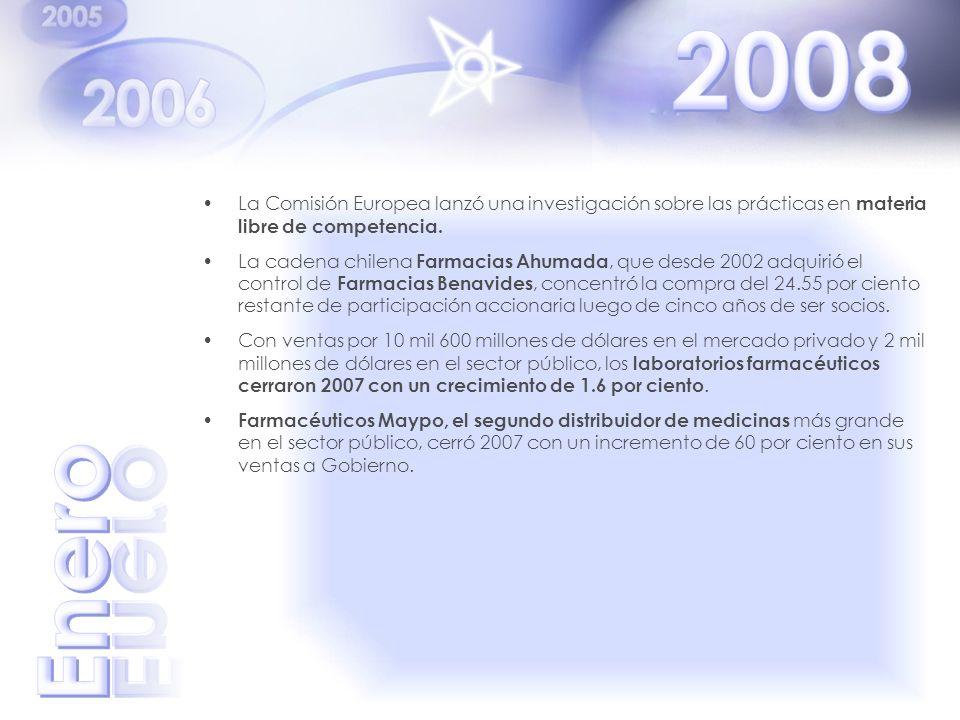 La Comisión Europea lanzó una investigación sobre las prácticas en materia libre de competencia. La cadena chilena Farmacias Ahumada, que desde 2002 a