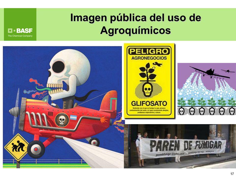 17 Imagen pública del uso de Agroquímicos