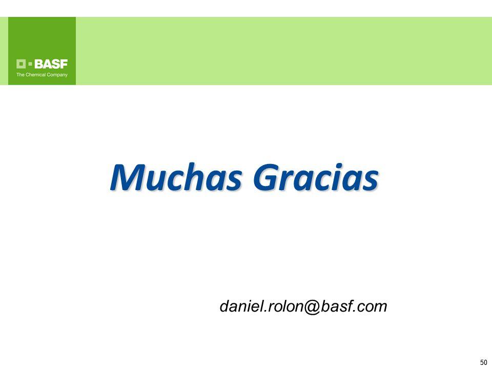 50 Muchas Gracias daniel.rolon@basf.com
