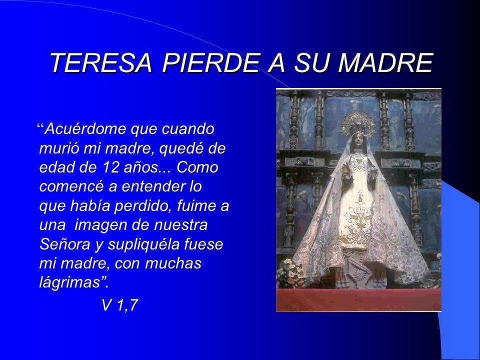 PRIMERA CRISIS ESPIRITUAL A sus quince años Teresa descubre su ser de mujer: Comencé a traer galas...