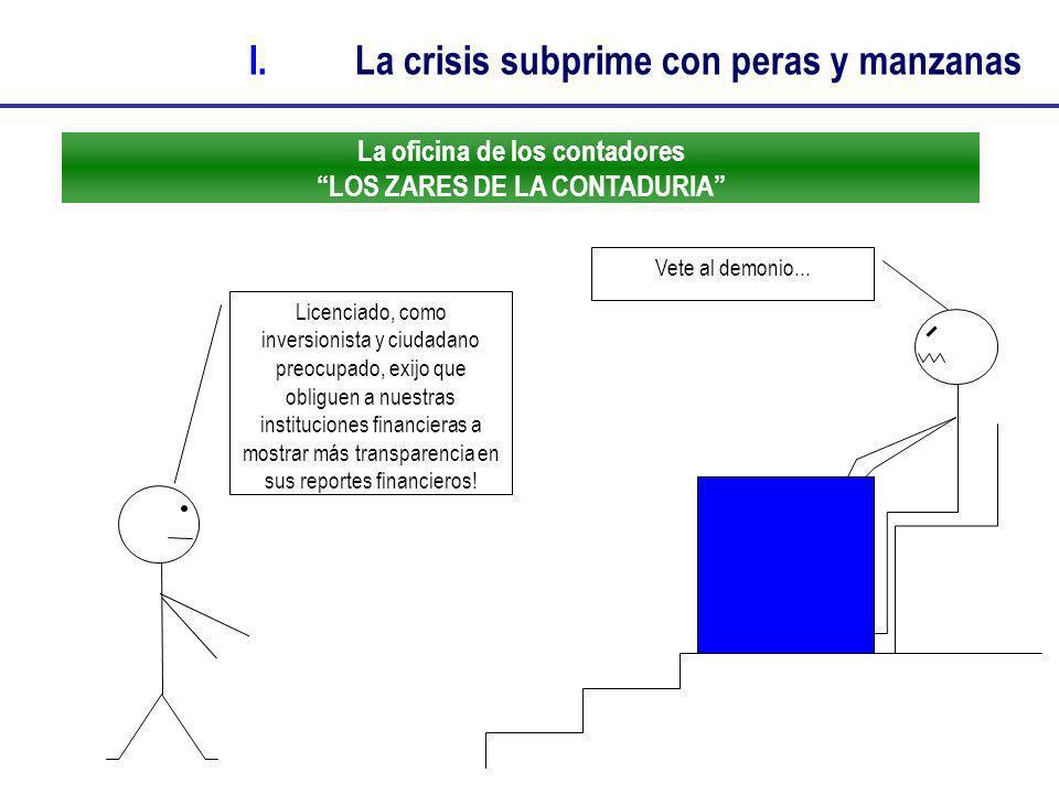 La oficina de los contadores LOS ZARES DE LA CONTADURIA Licenciado, como inversionista y ciudadano preocupado, exijo que obliguen a nuestras instituci