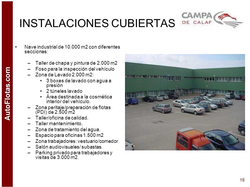 AutoFlotas.com 17 ZONA STOCK Disponibilidad de 430.000 m2: –200.000 m2 habilitados (1ª fase) –230.000 m2 pendientes de habilitar (2ª fase) –Capacidad