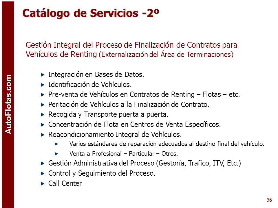 AutoFlotas.com 35 Transporte y Campas. Logística Integral –Transporte de Vehículos Nacional e Internacional con diferentes medios –6 campas disponible