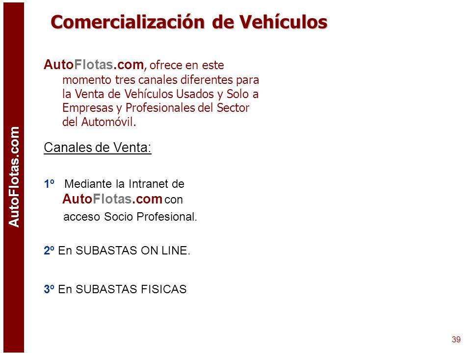 AutoFlotas.com 38 AutoFlotas.com permite a sus usuarios el acceso OnLine a los Estados y Procesos en los que se encuentran los Vehículos y Operaciones