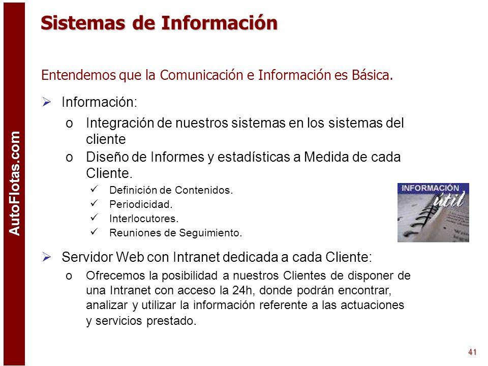 AutoFlotas.com 40 Estamos en Condiciones de Diseñar Proyectos y Modelos de Trabajo y Servicios a la Medida de cada Cliente. Metodología: o1ª Reunión:
