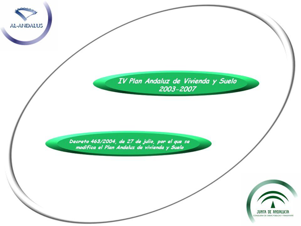 Decreto 463/2004, de 27 de julio, por el que se modifica el Plan Andaluz de vivienda y Suelo