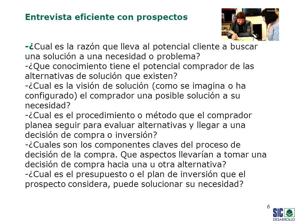 17 Cierre de Ventas El proceso de venta de servicios complejos o de alta implicación implica confianza entre las partes.