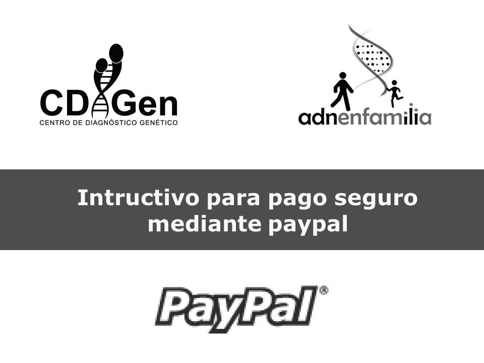 Intructivo para pago seguro mediante paypal