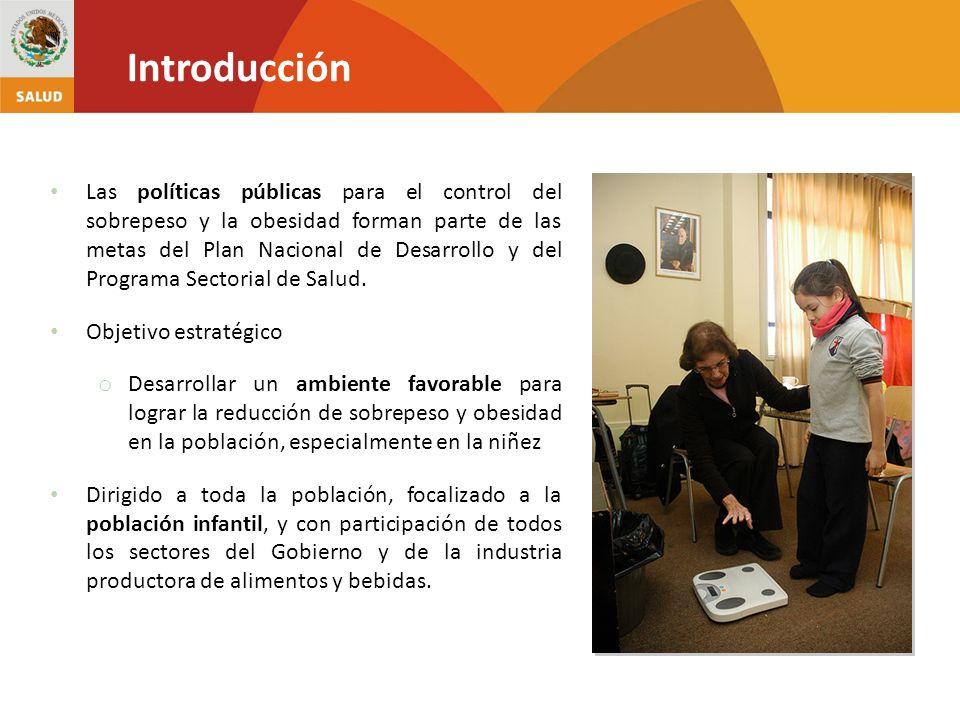 Las políticas públicas para el control del sobrepeso y la obesidad forman parte de las metas del Plan Nacional de Desarrollo y del Programa Sectorial