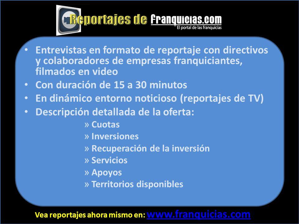 Vea reportajes ahora mismo en: www.franquicias.com www.franquicias.com 61.58%