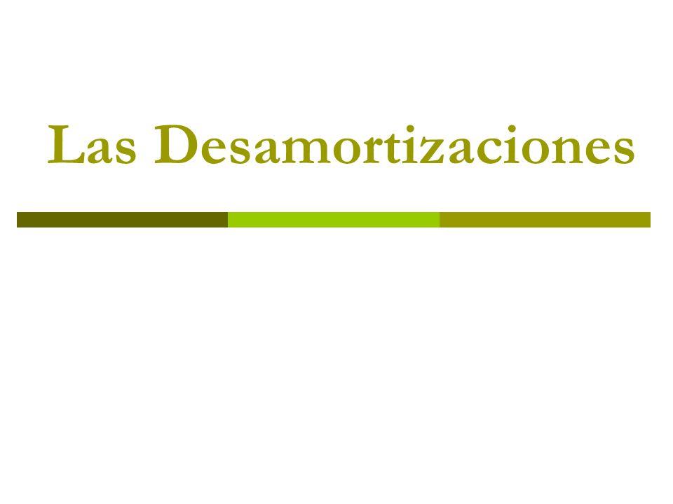 La desamortización de Mendizábal Efectos Una recaudación de casi 3.500 millones de reales, de los que cerca de 400 fueron a metálico.