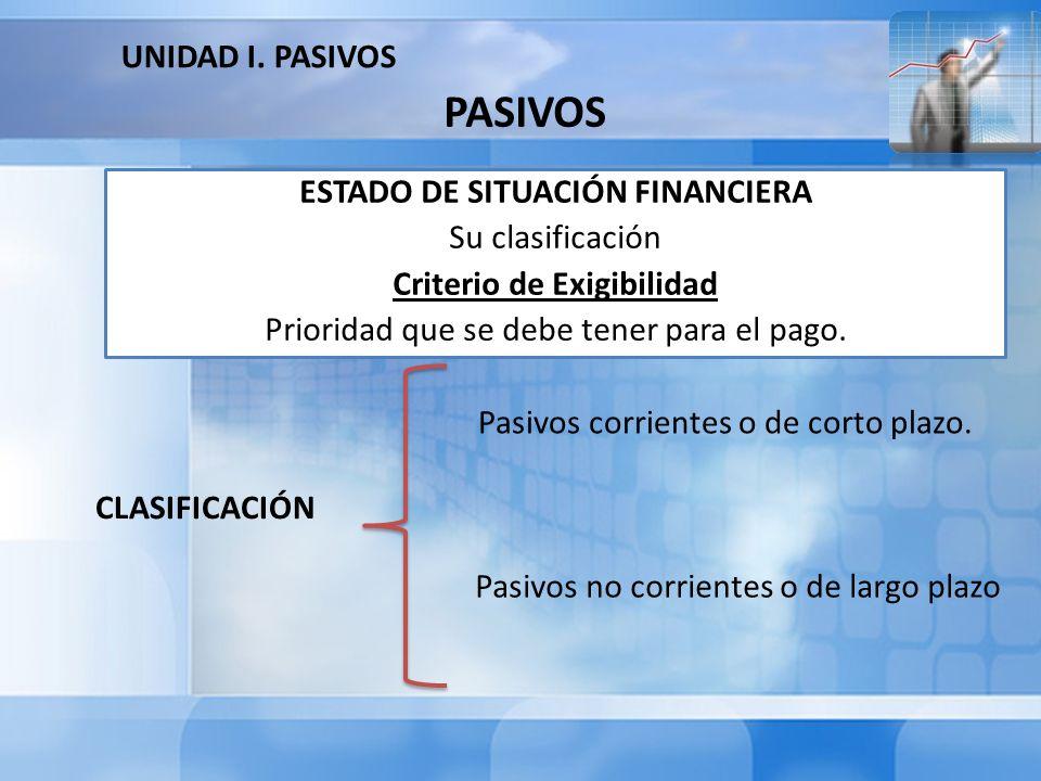 PASIVOS CORRIENTES O DE CORTO PLAZO Son las obligaciones que se deben cubrir en un plazo no mayor de un año (1) contado a partir de la fecha del balance.