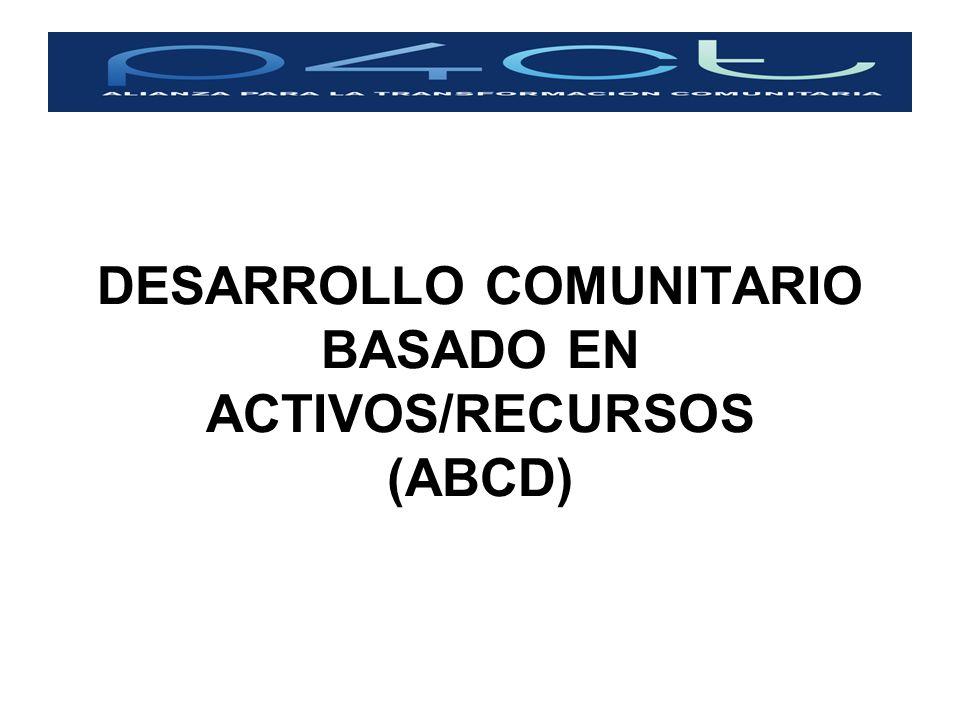 DESARROLLO COMUNITARIO BASADO EN ACTIVOS/RECURSOS (ABCD)