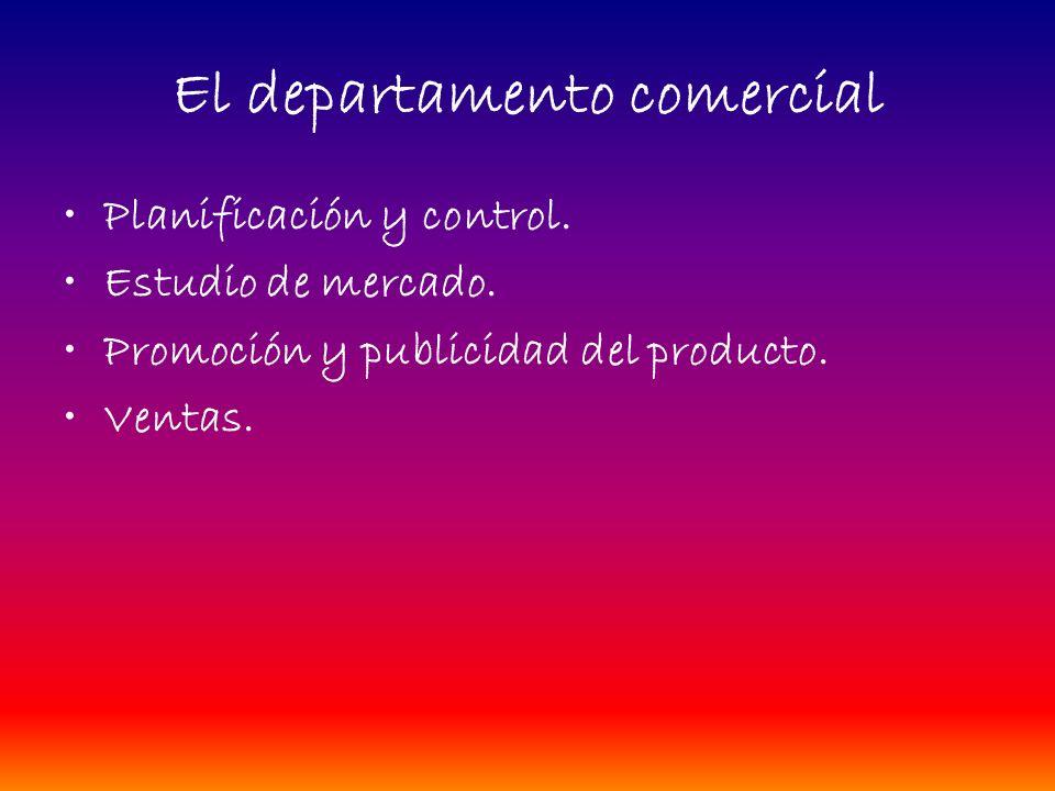 El marketing Departamento comercial. El mercado. El marketing. Los elementos del marketing. –El producto. –El precio. –La distribución. –La promoción.