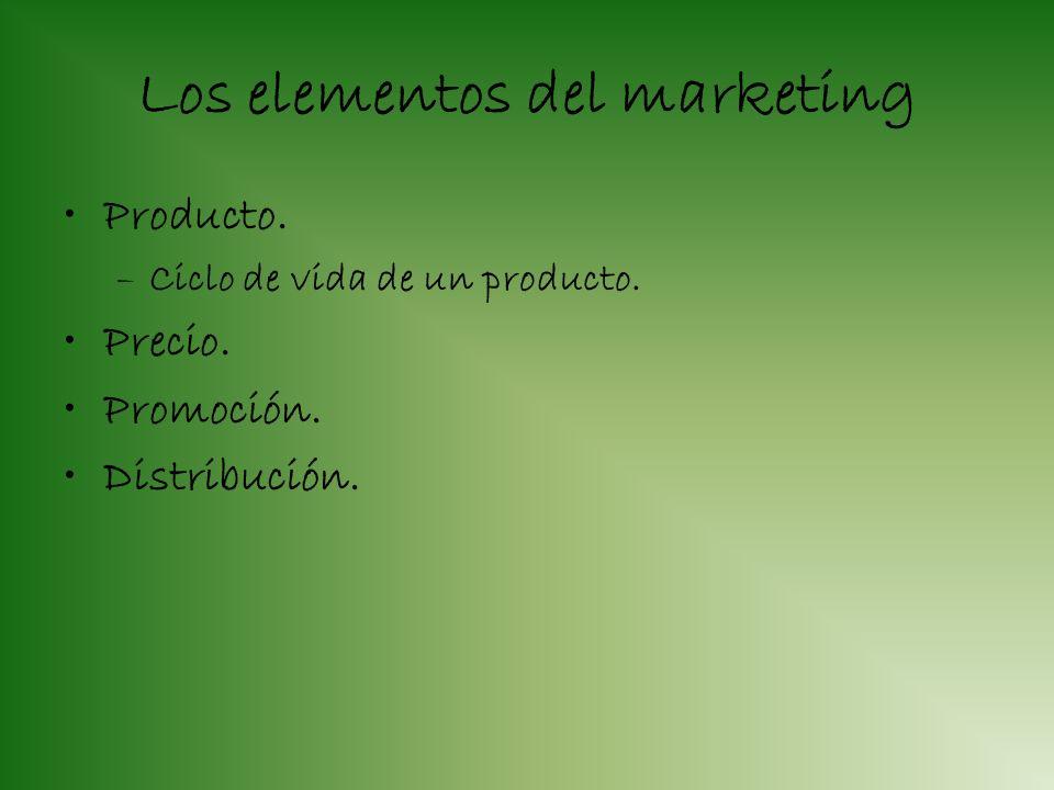 El marketing Conjunto de actividades. Que desarrolla una empresa. Para satisfacer las necesidades y deseos del consumidor. Conseguir un beneficio.