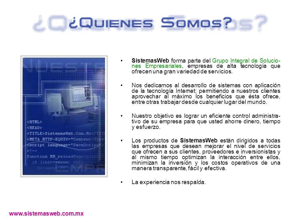 www.sistemasweb.com.mx Apartados c/anticipo Cotizaciones a Clientes Facturación Caja Artículos pendientes de surtir.