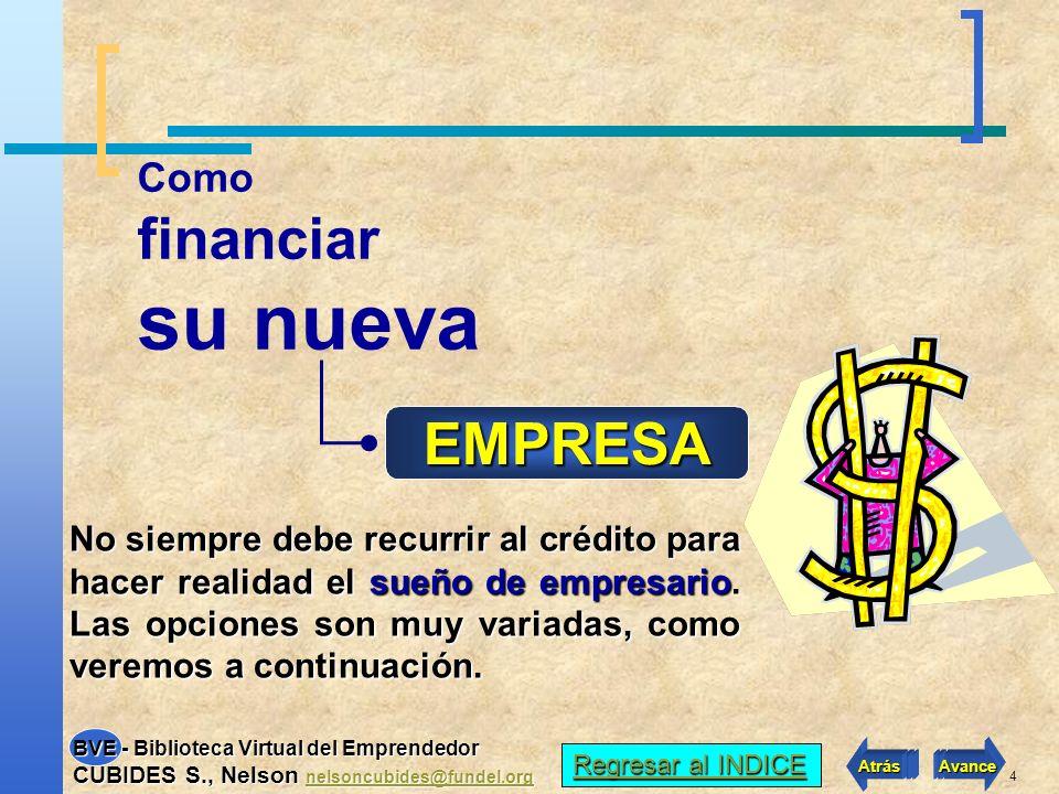 4 Como financiar su nueva EMPRESA No siempre debe recurrir al crédito para hacer realidad el sueño de empresario.