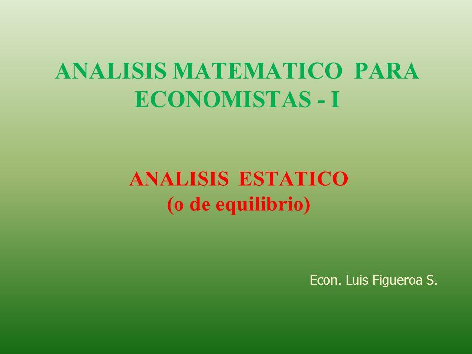 Modelo de mercado de 2 bienes: Q d1 = a 0 + a 1 P 1 + a 2 P 2 Q s1 = b 0 + b 1 P 1 + b 2 P 2 Q d1 - Q s1 = 0 Q d1 = Q s1 Q d2 = α 0 + α 1 P 1 + α 2 P 2 Q s2 = β 0 + β 1 P 1 + β 2 P 2 Q d2 – Q s2 = 0 Q d2 = Q s2