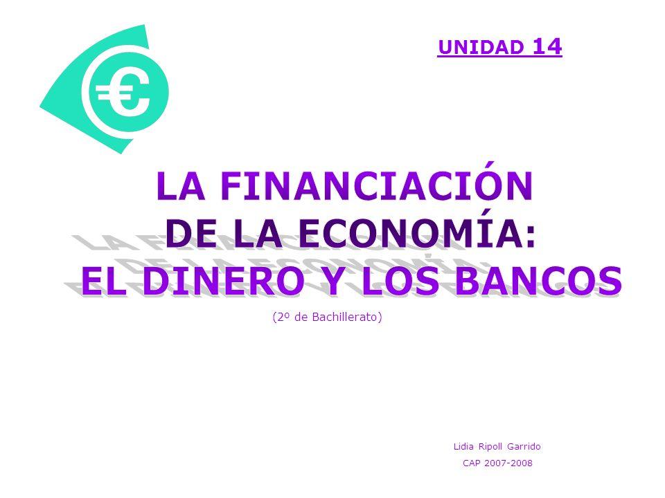 BANCO DE ESPAÑA No trabaja con particulares ni empresas Concede financiación al: - Sector exterior: al comprar divisas.