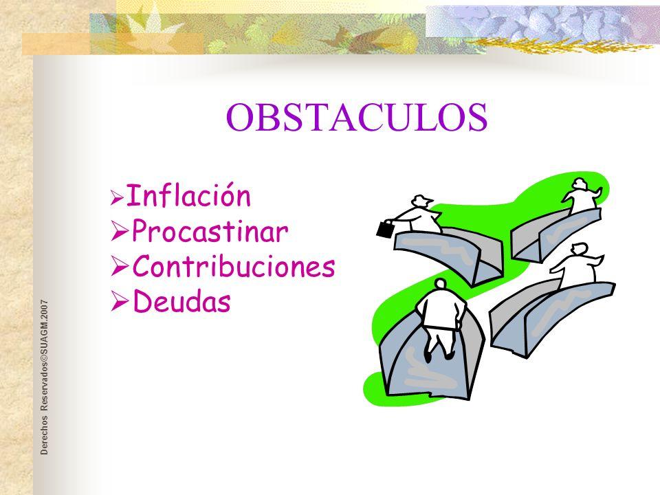 Derechos Reservados©SUAGM.2007 EDUCATE FINANCIERAMENTE INTERNET SEMINARIOS DE PLANIFICACIÓN FINANCIERA PERSONAL LIBROS DE FINANZA