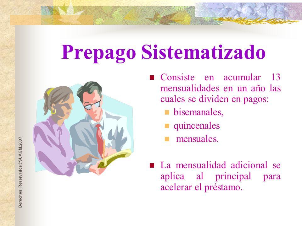 Derechos Reservados©SUAGM.2007 ¿Debes refinanciar.