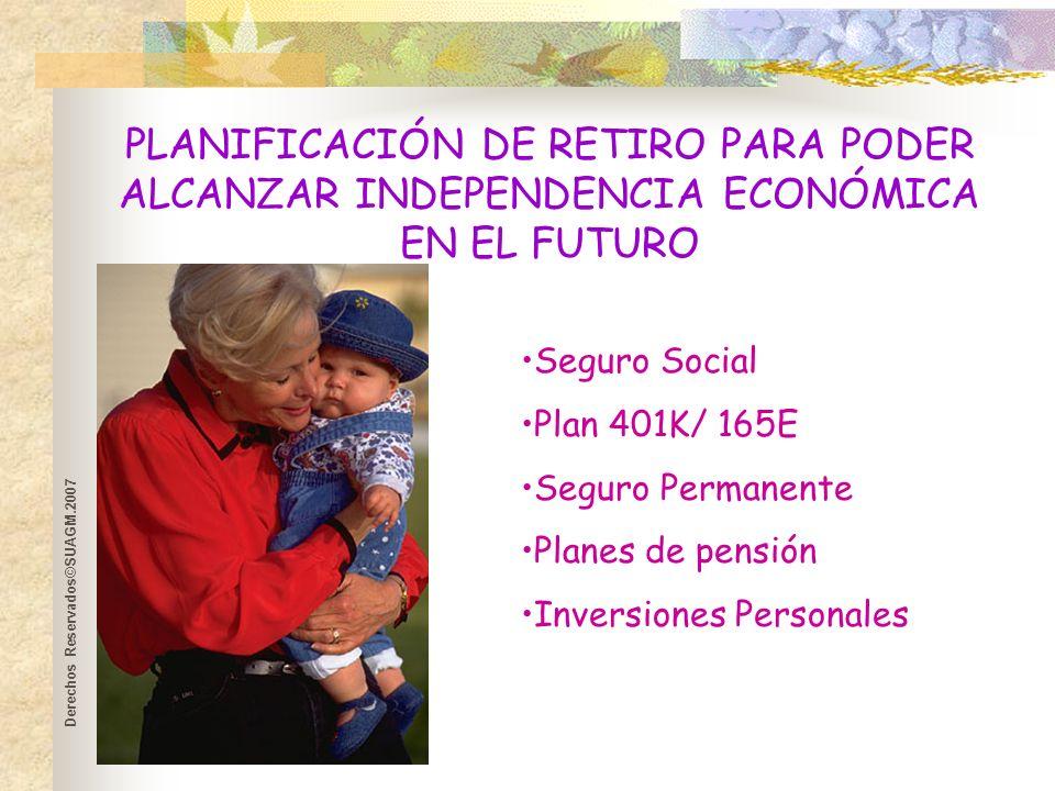 Derechos Reservados©SUAGM.2007 Planificación de Retiro