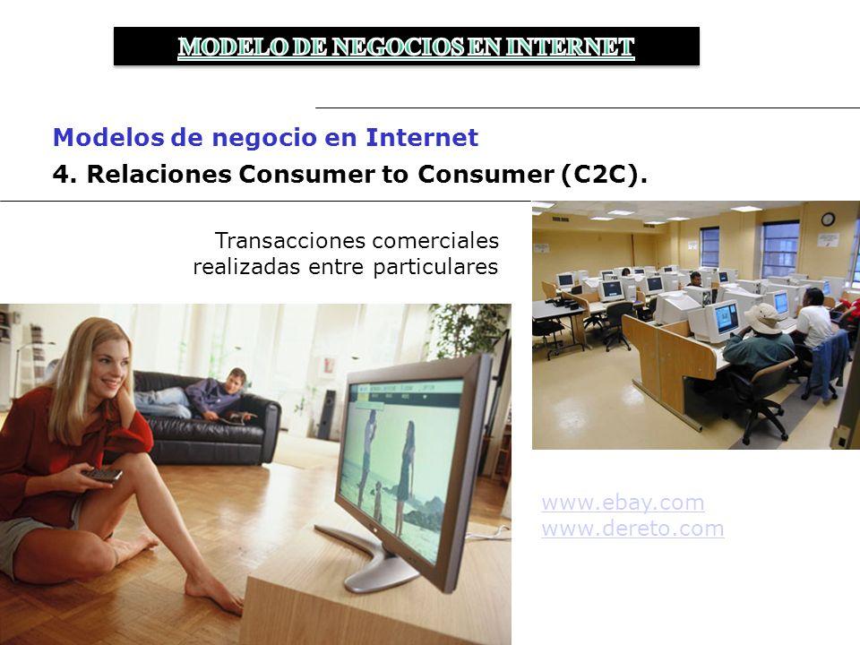 4.Relaciones Consumer to Consumer (C2C).