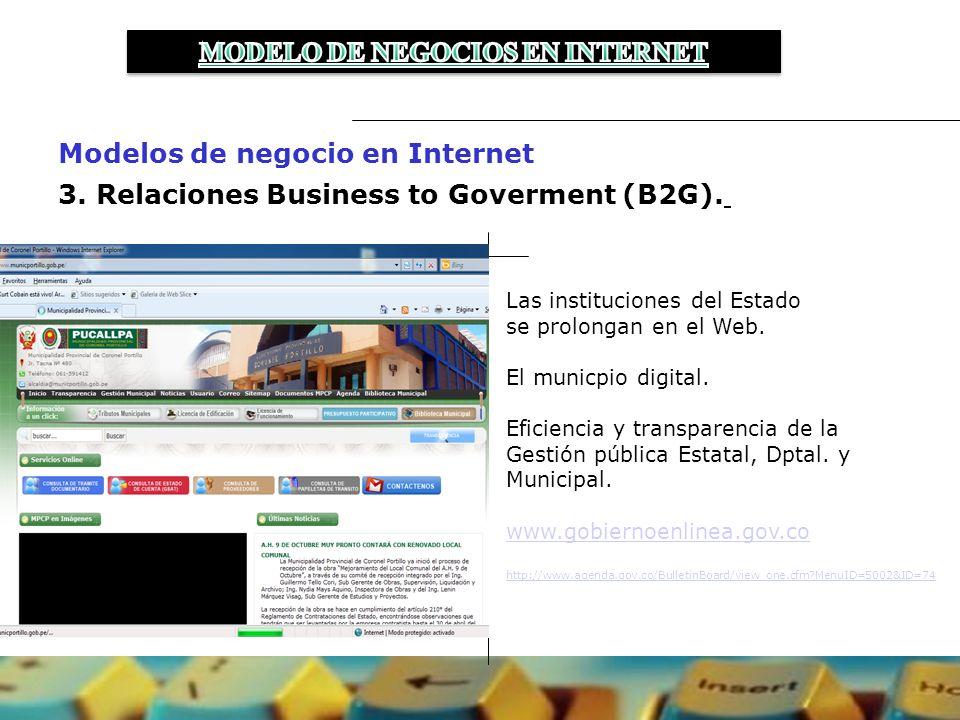 3.Relaciones Business to Goverment (B2G).