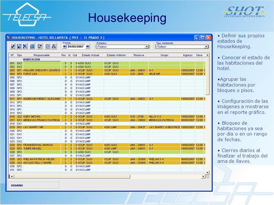 Housekeeping Definir sus propios estados de HouseKeeping.