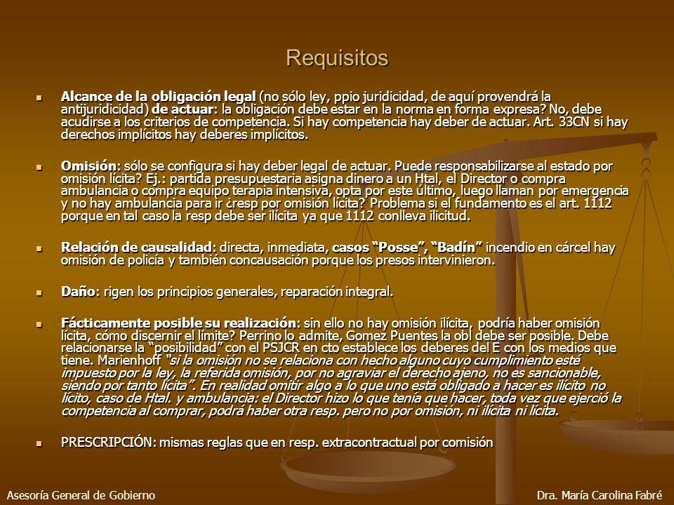 Requisitos Alcance de la obligación legal (no sólo ley, ppio juridicidad, de aquí provendrá la antijuridicidad) de actuar: la obligación debe estar en la norma en forma expresa.