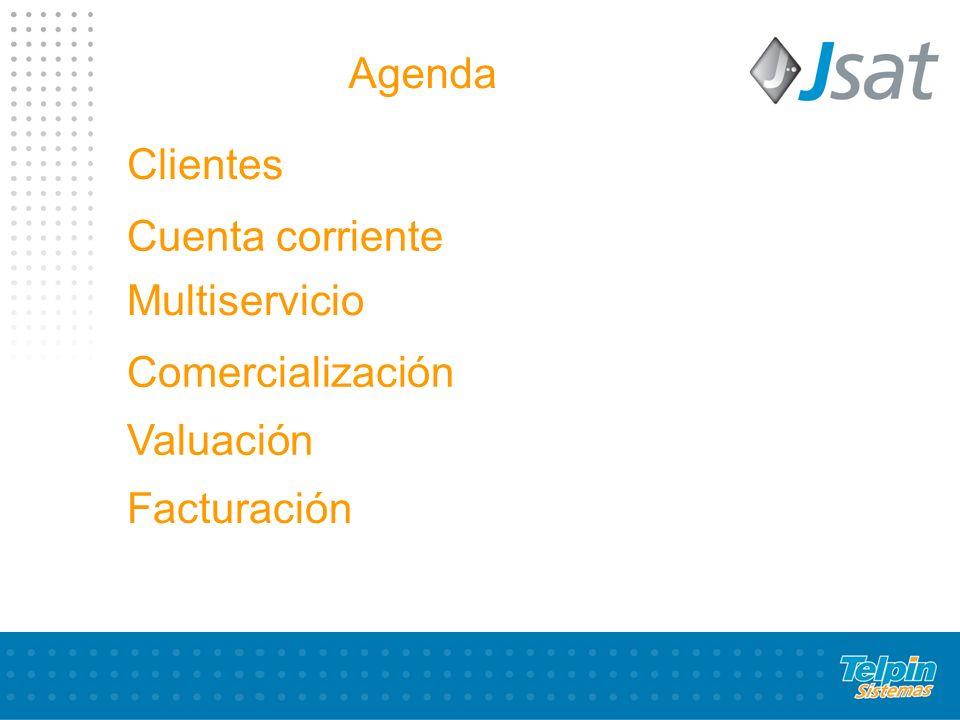 Cuenta corriente Multiservicio Comercialización Valuación Facturación Clientes Agenda